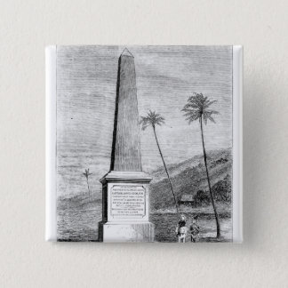 Monument to Captain James Cook 15 Cm Square Badge