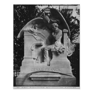 Monument to Cesar Franck Poster