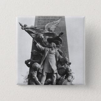 Monument to Leon Gambetta 15 Cm Square Badge