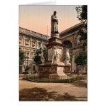 Monument to Leonardo di Vinci, Milan, Italy vintag Greeting Card