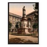 Monument to Leonardo di Vinci, Milan, Italy vintag Postcards