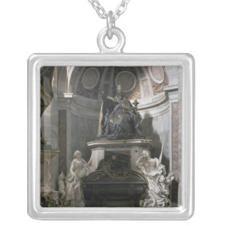 Monument to Urban VIII Silver Plated Necklace