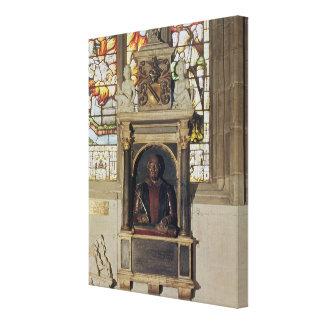 Monument to William Shakespeare  c.1616-23 Canvas Print