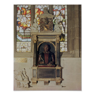 Monument to William Shakespeare  c.1616-23 Poster