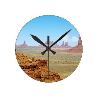 Monument Valley 13 Round Clock