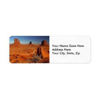 Monument Valley 1 Return Address Label