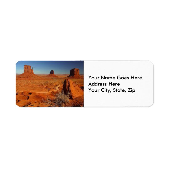 Monument Valley 1 Return Address Label