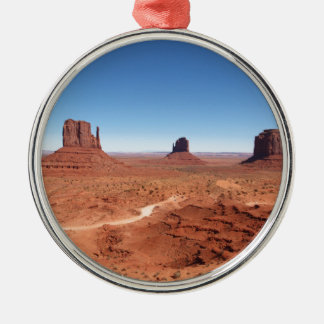 Monument Valley 3 Silver-Colored Round Decoration