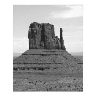 Monument Valley (black and white) 11.5 Cm X 14 Cm Flyer