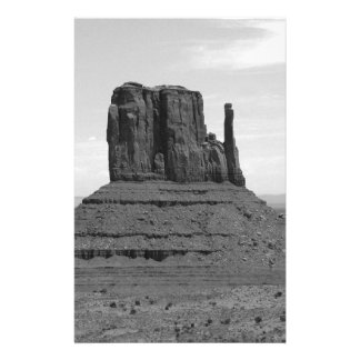 Monument Valley (black and white) 14 Cm X 21.5 Cm Flyer