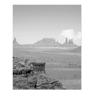 Monument Valley (black and white) 2 11.5 Cm X 14 Cm Flyer