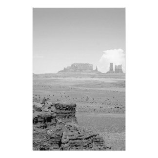 Monument Valley (black and white) 2 14 Cm X 21.5 Cm Flyer