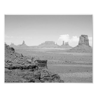 Monument Valley (black and white) 2 Photo