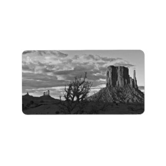 Monument Valley (black and white) 3 Address Label