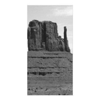 Monument Valley (black and white) Photo Card Template