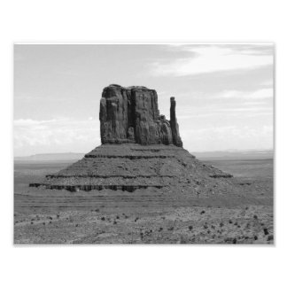 Monument Valley (black and white) Photograph