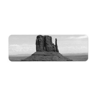 Monument Valley (black and white) Return Address Label