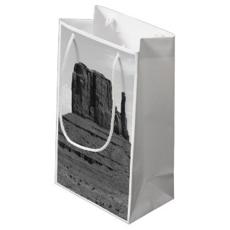 Monument Valley (black and white) Small Gift Bag