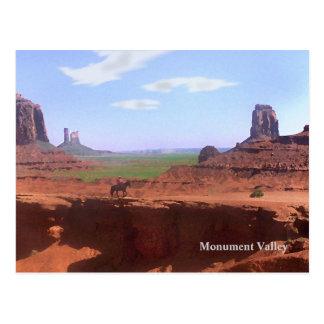 Monument Valley Cowboy Souvenir  Postcard