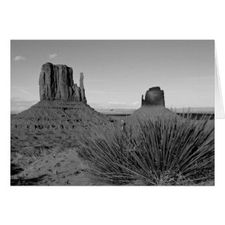 Monument Valley in Arizona/Utah (black and white) Card