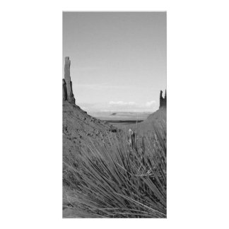 Monument Valley in Arizona/Utah (black and white) Customized Photo Card