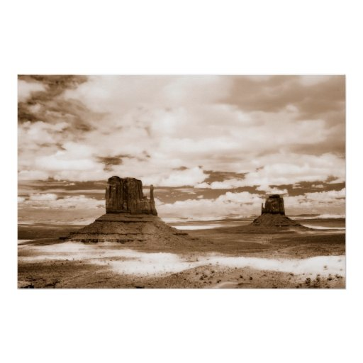 monument valley infrared poster