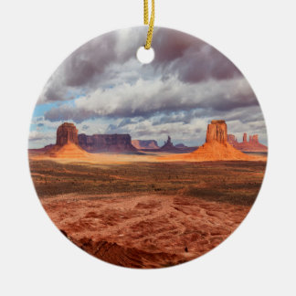 Monument valley landscape, AZ Round Ceramic Decoration