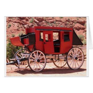 Monument Valley Red Wagon Card
