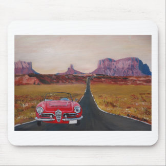 Monument Valley Road Trip with Oldtimer Convertibl Mousepad