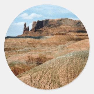 Monument Valley scene 02 Classic Round Sticker