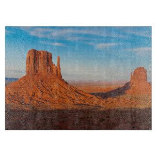 Monument Valley Utah desert mittens in panoramic Cutting Board