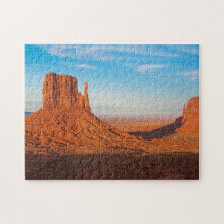 Monument Valley Utah desert mittens in panoramic Jigsaw Puzzle