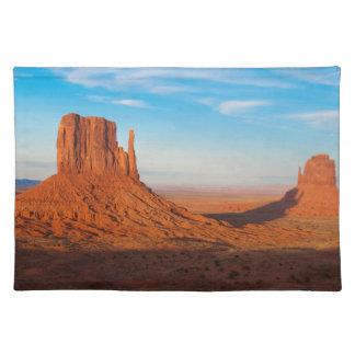 Monument Valley Utah desert mittens in panoramic Placemat