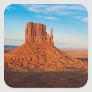 Monument Valley Utah desert mittens in panoramic Square Sticker