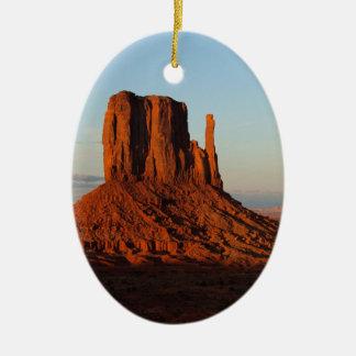 Monument Valley Utah Desert Rock Formation Christmas Ornament