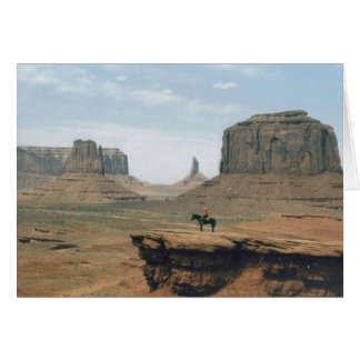 Monument Valley with Cowboy Card