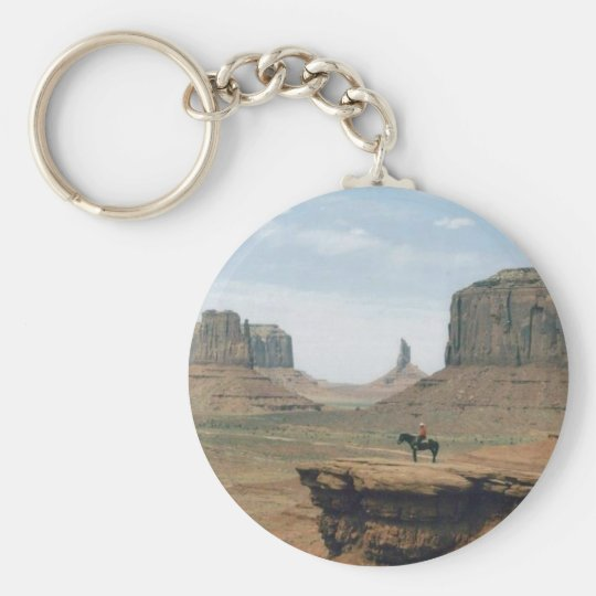 Monument Valley with Cowboy Key Ring