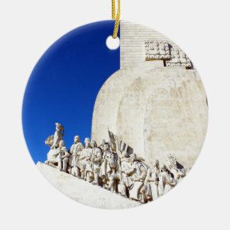 Monument you the Portuguese Sea Discoveries Round Ceramic Decoration