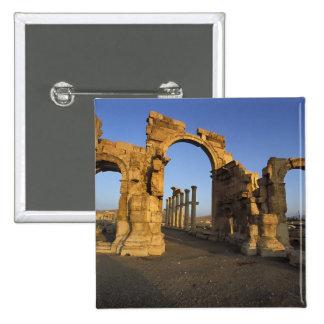 Monumental Arch, Palmyra, Homs, Syria 15 Cm Square Badge