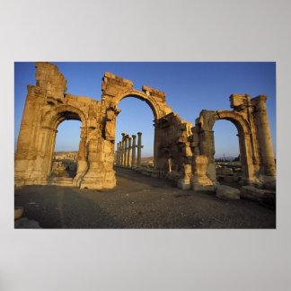 Monumental Arch, Palmyra, Homs, Syria Poster
