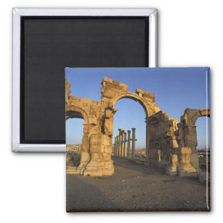 Monumental Arch, Palmyra, Homs, Syria Square Magnet