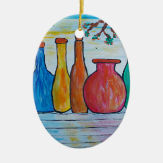 Monumental bottles christmas ornament