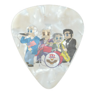 Monumental Rock Pearl Celluloid Guitar Pick
