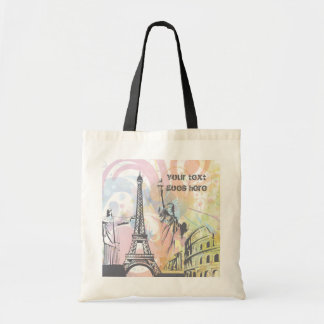 Monuments of the world custom tote bag