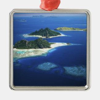 Monuriki, Monu and Yanuya Islands, Mamanuca Silver-Colored Square Decoration