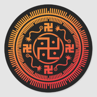 Monyou 3 classic round sticker