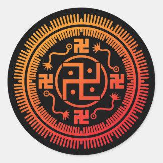 Monyou 3 round sticker