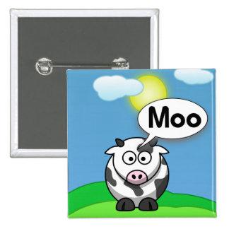 Moo 15 Cm Square Badge