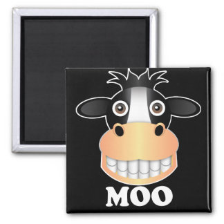 Moo - 2 Inch Square Magnet Square Magnet