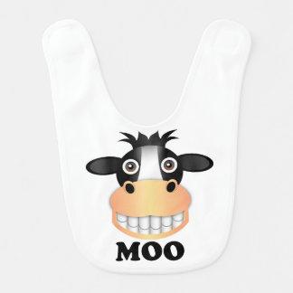 Moo - Baby Bib Bibs